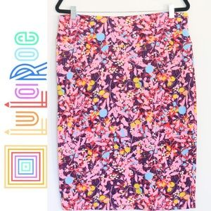 Pink and purple floral skirt - LulaRoe - Cassie